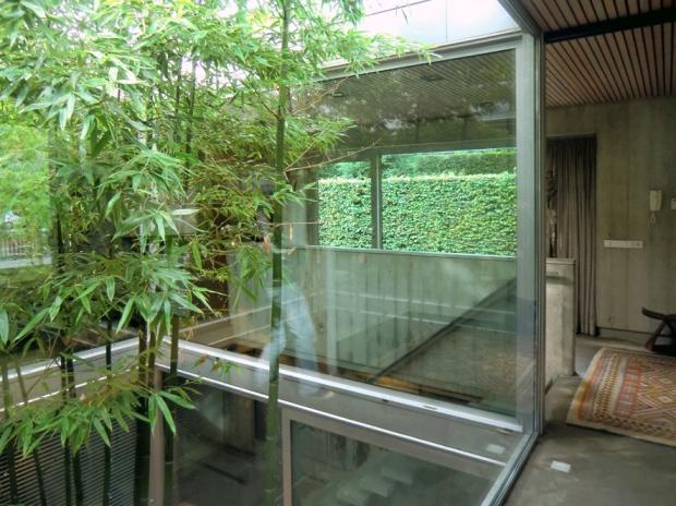 Het huis als decor voor de groene patio